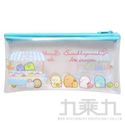 小夥伴透明扁筆袋(大)A-冰店 SGCA2202