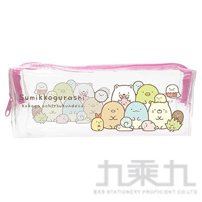 小夥伴透明長型筆袋A-粉SGCA2502