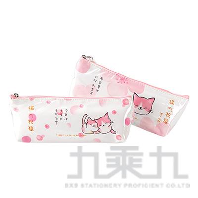 櫻花貓和風筆袋 AB1908114 (款式隨機)