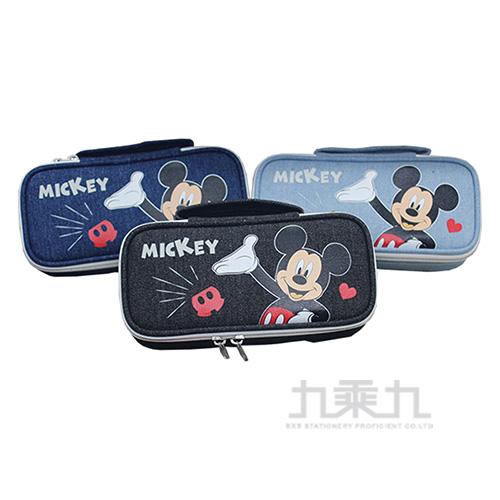 迪士尼牛仔布附鏡筆袋(款式隨機出貨)