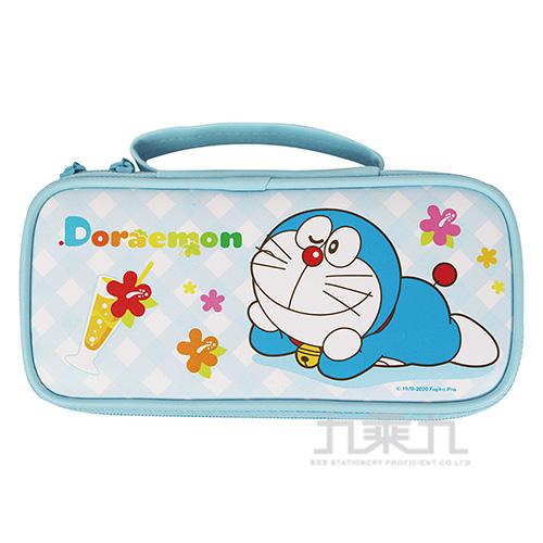 哆啦A夢上翻布筆盒-淺藍