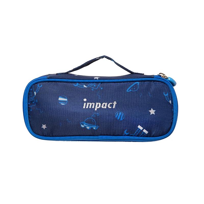 IMPACT粉紅熊筆袋-深藍色 IM00L07NY