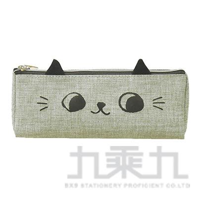 O-cat可愛貓耳三角筆袋(灰)