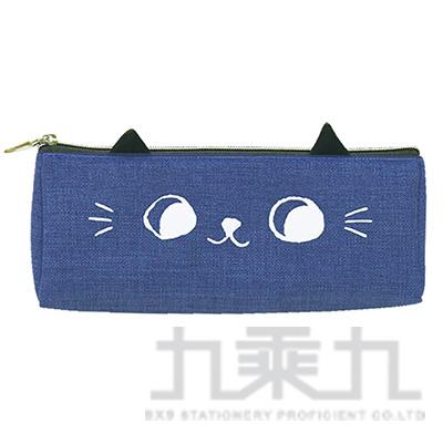 O-cat可愛貓耳三角筆袋(藍)