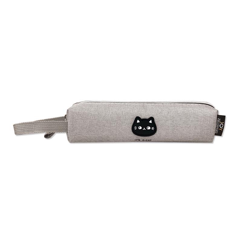O-Cat 可愛貓頭巧筆袋-灰 JPC-128A