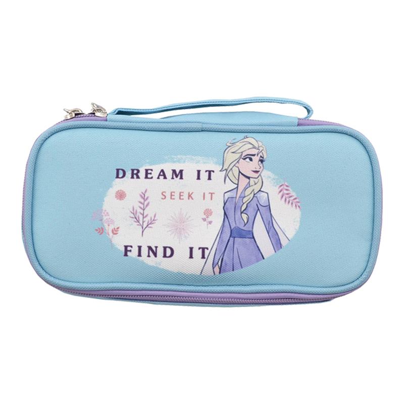 迪士尼上翻萬用袋\筆袋-冰雪奇緣