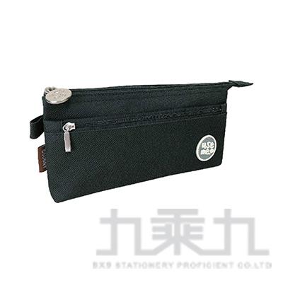 USE ME滴注雙層三角筆袋(黑) SPC-276B