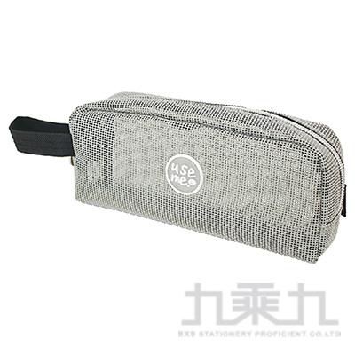 USE ME網格夾心筆袋(灰)SPC-291A