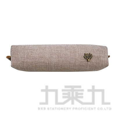 簡約風麻布筆袋-米色 LACE-4809