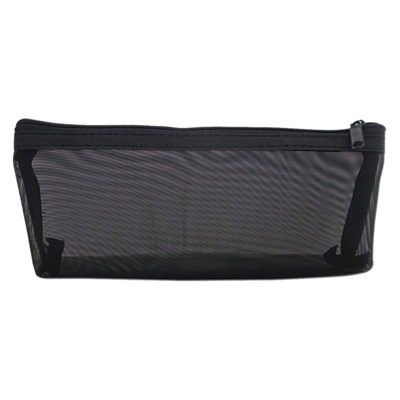 船形紗網筆袋-黑 LACE-20304