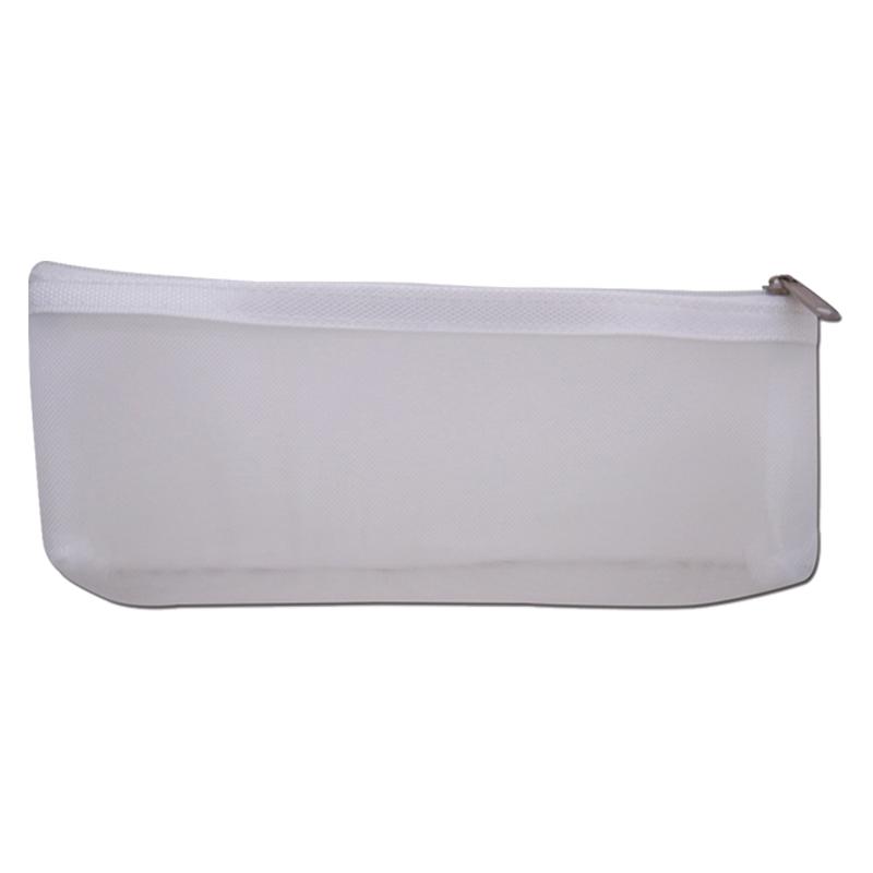 船形紗網筆袋-白 LACE-20305