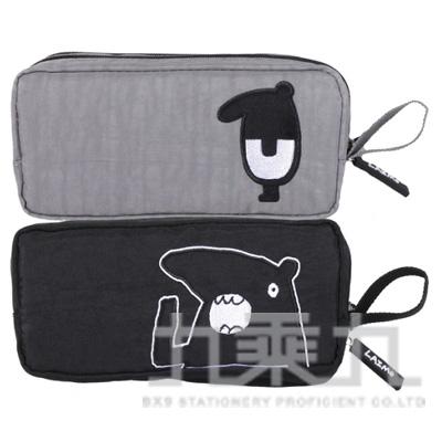 馬來貘水洗布雙拉鍊筆袋CHWPK220-1