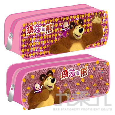 瑪莎與熊 閃亮方型筆袋 (款式隨機)