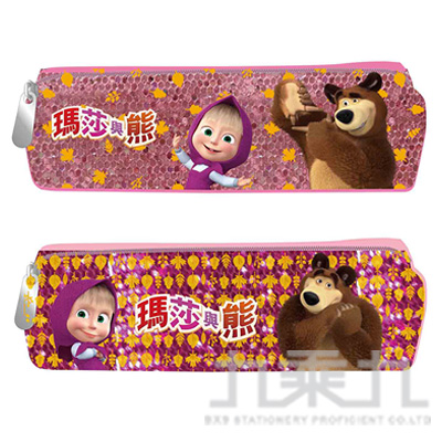 瑪莎與熊 閃亮中方型筆袋 (款式隨機)