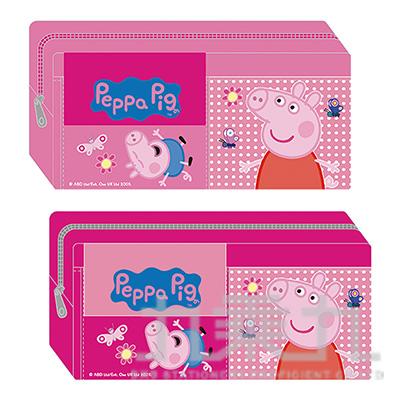粉紅豬小妹雙口袋筆袋 PGWPK200-4