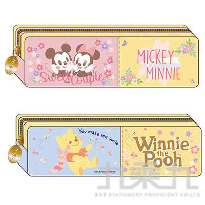迪士尼 櫻花系 中方型棉布筆袋 DFWPK180-2 (款式隨機)