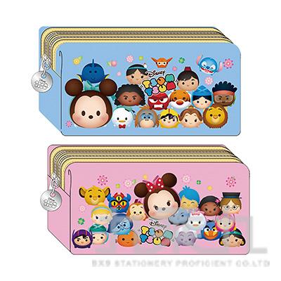 迪士尼(Tsum Tsum)雙拉鏈棉布筆袋(3) TTWPK230-6