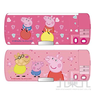 粉紅豬小妹雙削多功能筆盒(4)(多款隨機)