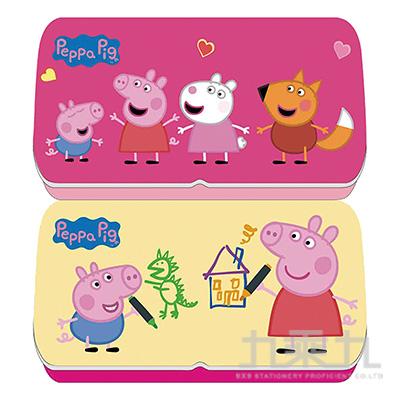 粉紅豬小妹雙層鐵筆盒(9)(多款隨機)