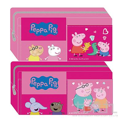 粉紅豬小妹雙口袋筆袋(5)(多款隨機)