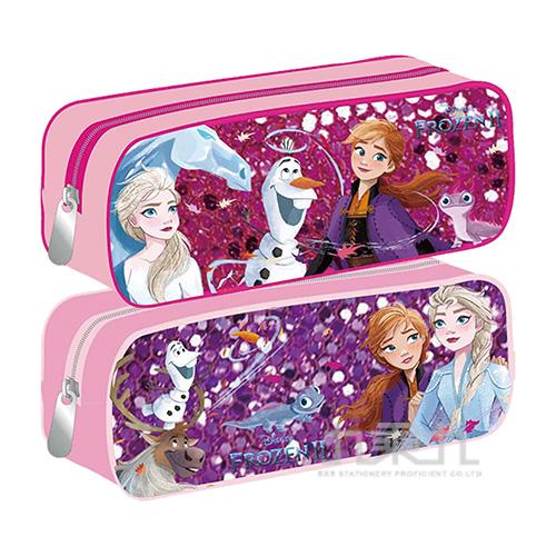 冰雪奇緣(2)閃亮方型筆袋(2)  款式隨機