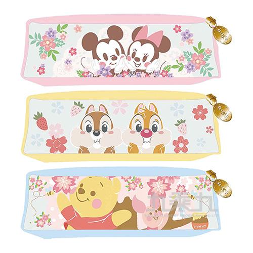 迪士尼(櫻花系)果凍方形筆袋