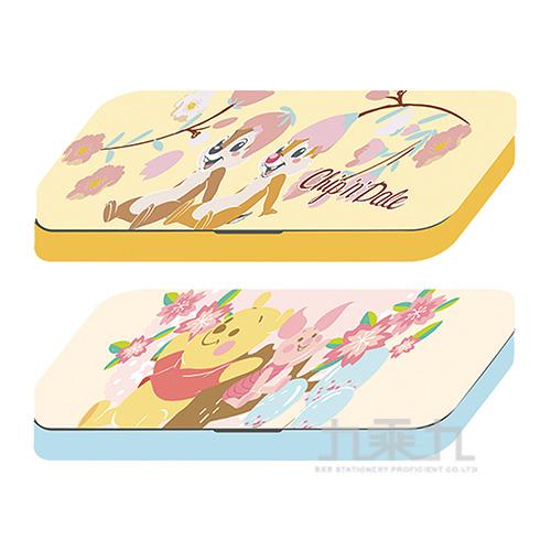 迪士尼(櫻花系)雙層鐵筆盒(2)(款式隨機出貨)