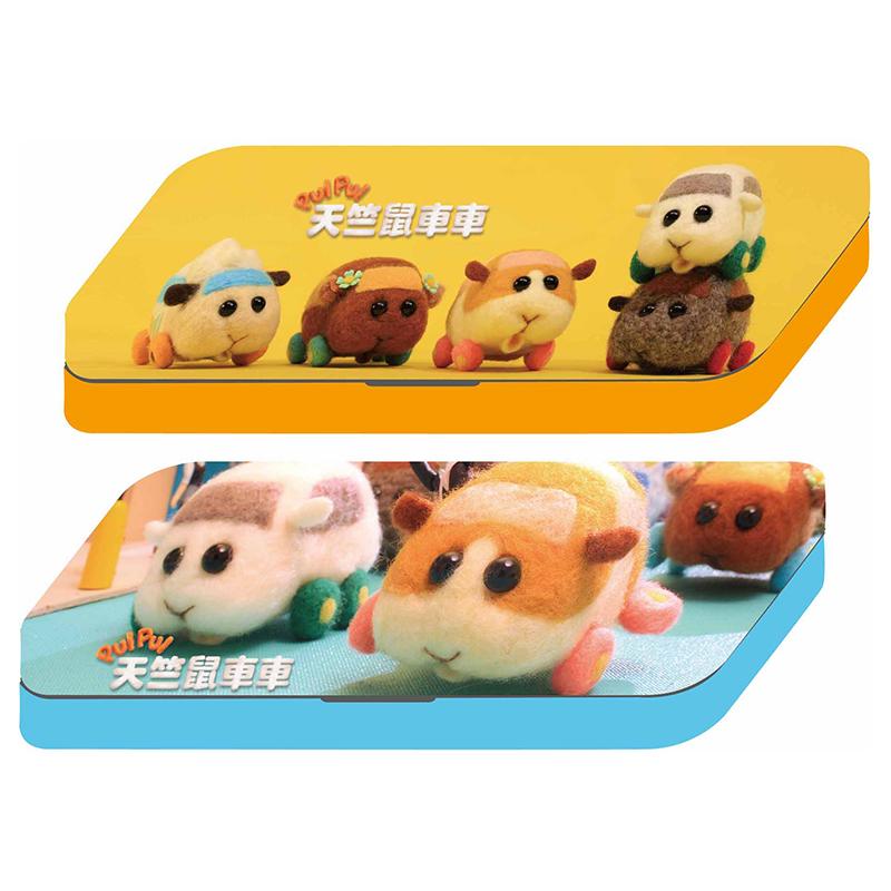 天竺鼠車車雙層鐵筆盒(款式隨機出貨)