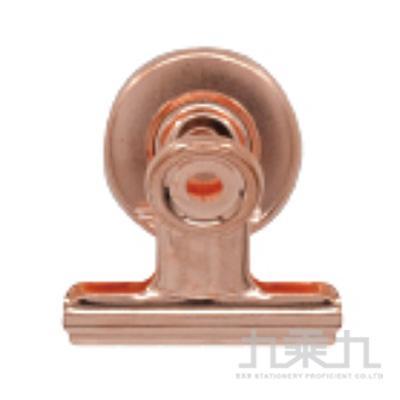 玫瑰金圓形磁性長尾鐵夾(4cm)