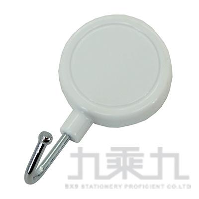 圓形磁鐵掛鉤(白) LW-8640A