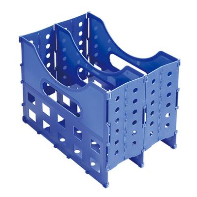 95#專利收納式兩層公文架(藍)200*320*250mm LT-1372