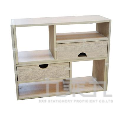 桌上型伸縮置物架 洗白色