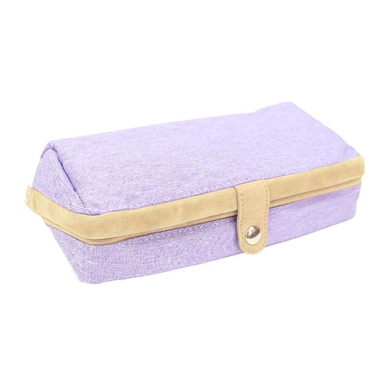 掀蓋如貝筆袋-紫 R/M:FY349V
