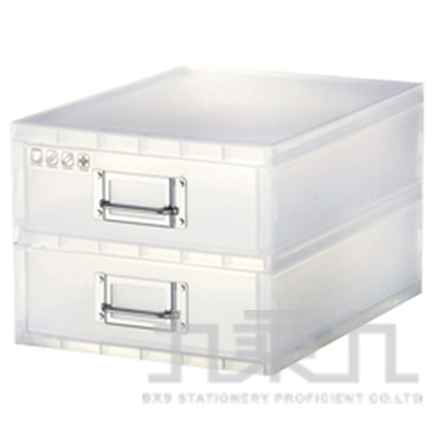 Sysmax I BOX雙抽屜收納盒(白) 56018