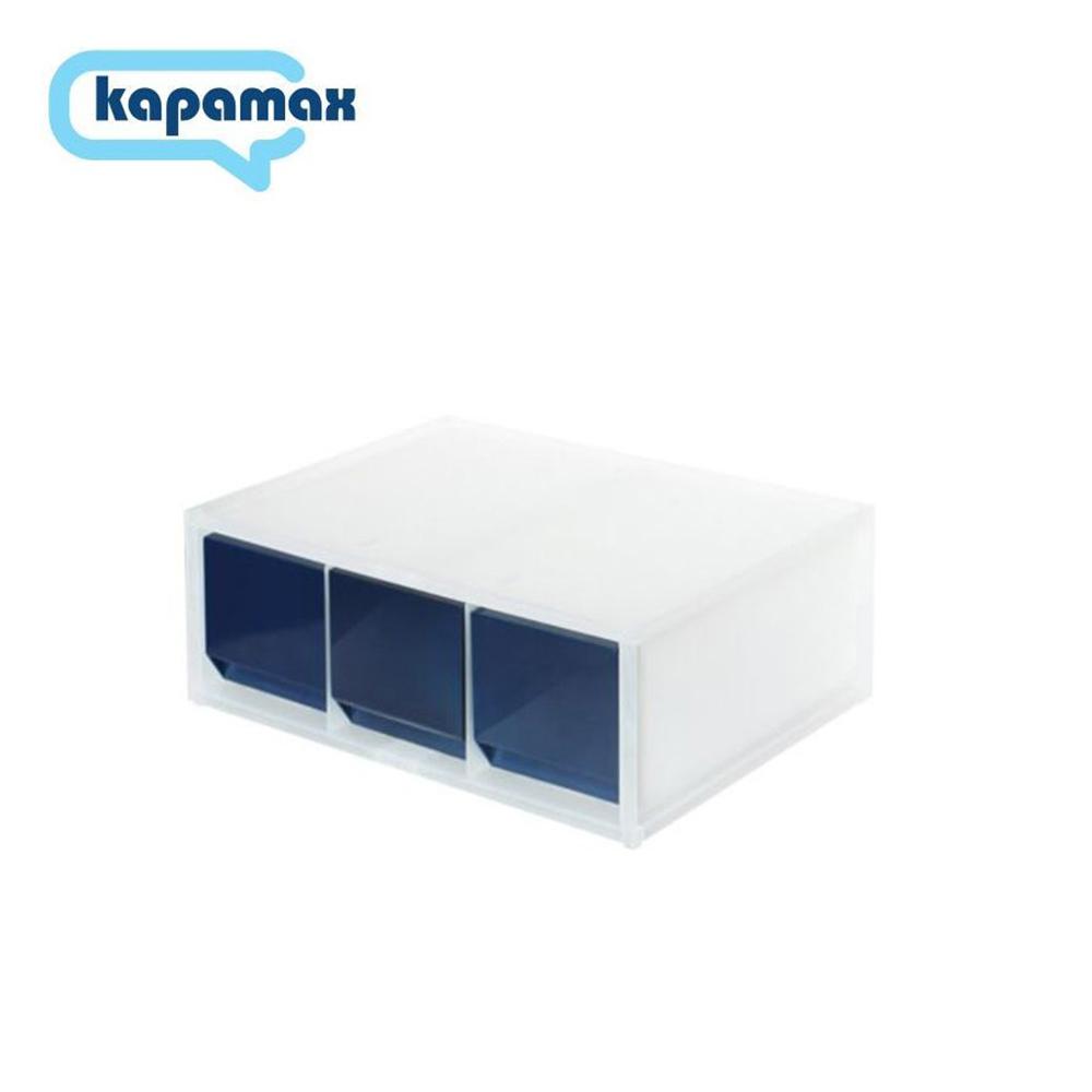 KAPAMAX 2-way多功能三層收納盒 藍色 51600-NV