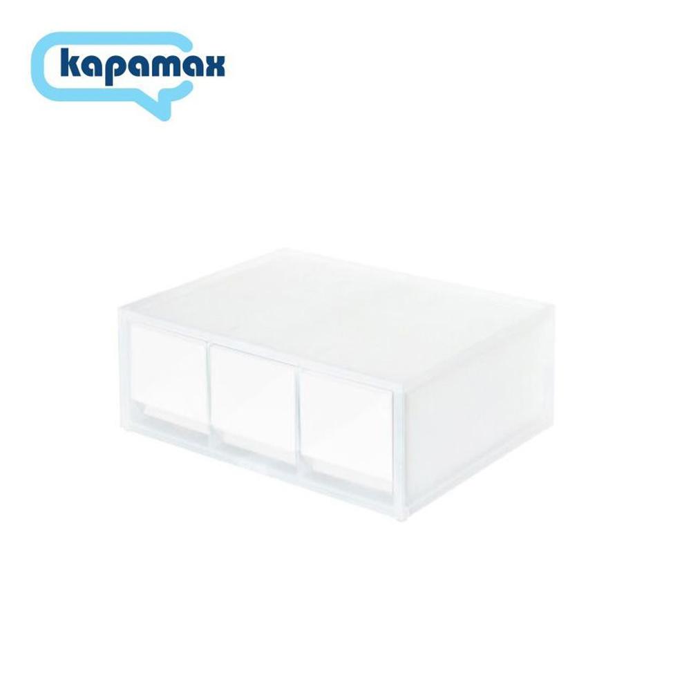 KAPAMAX 2-way多功能三層收納盒 霧白色 51600-SM