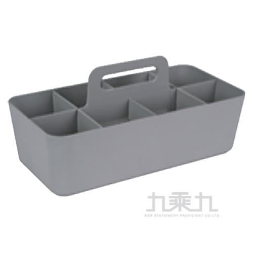 手提可疊式收納盒-灰 04213A