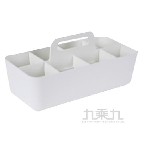 手提可疊式收納盒-白 04214A