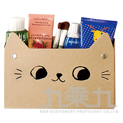 O-cat貓耳吸鐵置物盒-牛皮 JBS-07A