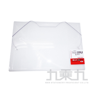 誌揚 PP A4 斜紋(S)公文盒 白色