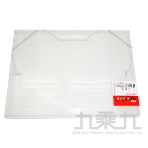 誌揚 PP A4 斜紋(M)公文盒 白色