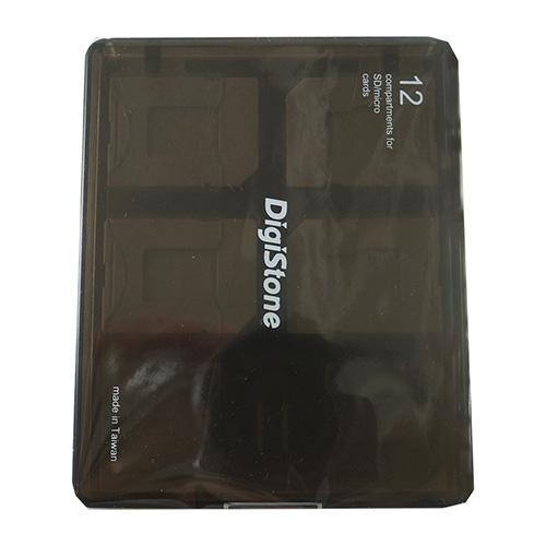 Digistone記憶卡收納盒-黑色(12入)