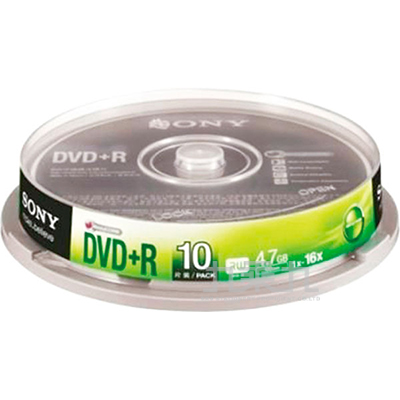 SONY 16xDVD+R 4.7GB(10P布丁桶)