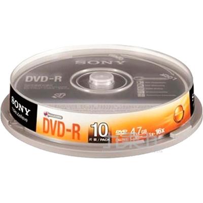 SONY 16xDVD-R 4.7GB(10P布丁桶)