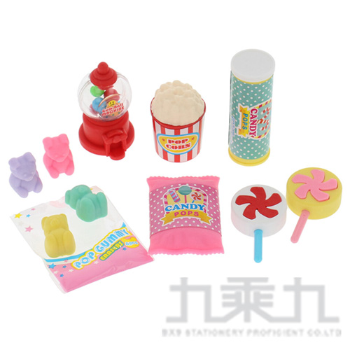 造型橡皮擦(流行的糖果) IWAKO:ER-BRI064
