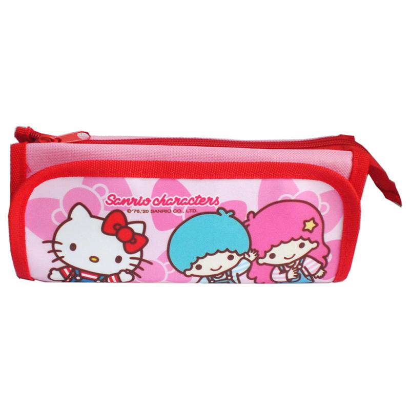 Hello Kitty 吊帶褲好朋友便利筆袋  021873