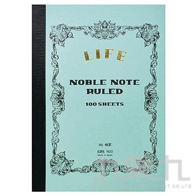 (日)LIFE NOBLE B6橫格筆記本 N30