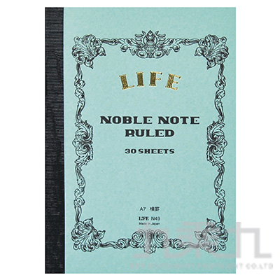 (日)LIFE NOBLE A7橫格筆記本 N49