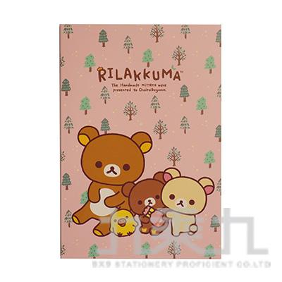 拉拉熊32K方格可撕筆記本(茶小熊) RK11081A