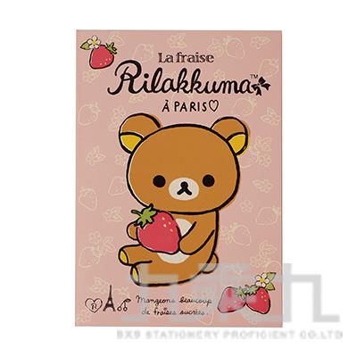 拉拉熊32K方格可撕筆記本(草莓) RK11081B